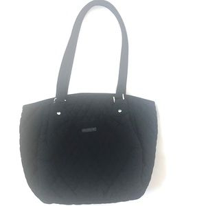 VERA BRADLEY Black Quilted Shoulder Bag Purse